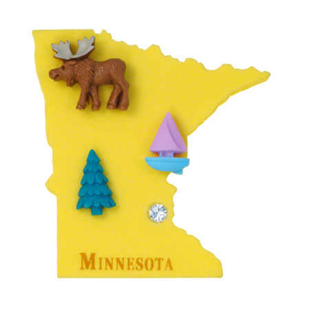 States USA: Collect all US State shaped Fridge Magnets